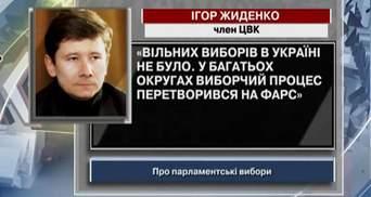 Жиденко: Вільних виборів в Україні не було
