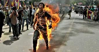 Акція протесту у Тибеті: 20 осіб постраждало, 4 підпалили себе