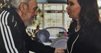 Фідель Кастро зустрів президента Аргентини у спортивному костюмі (Фото)