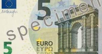 В новой серии евробанкнот название валюты появится кириллицей