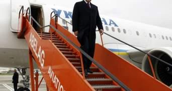 Янукович прибыл в Швейцарию на Всемирный экономический форум