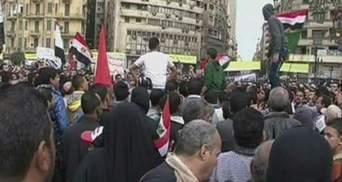 Годовщину свержения режима Мубарака отмечали протестами