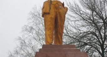Коммунисты подрались со свободовцами возле разрушенного памятника Ленину на Сумщине