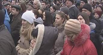 Полтысячи киевлян вышли на акцию по защите Гостиного двора