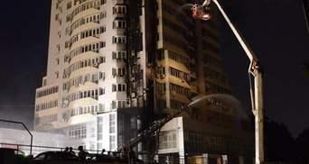 Причиной пожара в киевской многоэтажке, вероятно, стал окурок