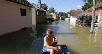 Полноводный Дунай начал затапливать Сербию