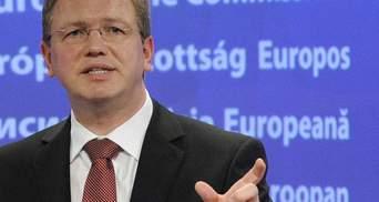Умови для Угоди про асоціацію мають бути створені до саміту у Вільнюсі, - Фюле