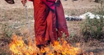 Молодий тибетський монах вчинив акт самоспалення