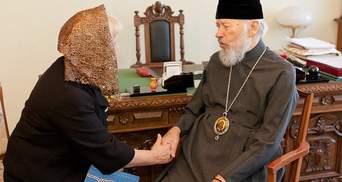 Анна Герман получила орден от Митрополита Владимира