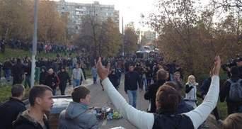 Вбивство у Москві: 500 націоналістів розгромили торговий центр, є постраждалі (Фото)