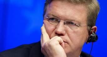 Єврокомісар Фюле скасував візит до України