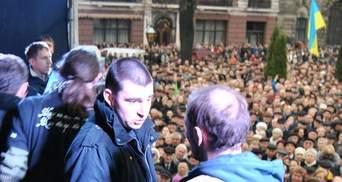 """Михальчишина в Львове выгнали со сцены под крики """"Позор"""" и толкотню (Фото. Видео)"""