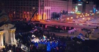Неизвестные сожгли автобус свободовца, который обеспечивал Евромайдан