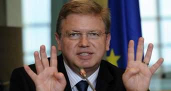 Фюле считает, что угроза банкротства Украины не связана с ЕС