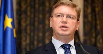 Фюле обвинил украинскую сторону в отсутствии прогресса по безвизовому режиму