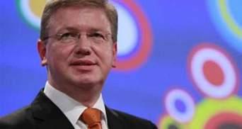 Фюле поговорит с Януковичем, лидерами политсил и представителями общественности