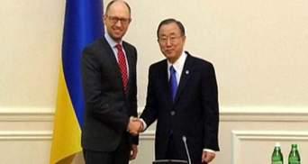 Вы показали свое лидерство, – Пан Ги Мун о русскоязычном обращение Яценюка к народу