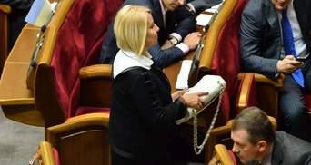 Герман в Раде отдала свою сумочку от Chanel после замечания Геращенко относительно ее цены (Фото)