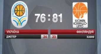 Баскетбольная сборная Украины уступила команде Финляндии