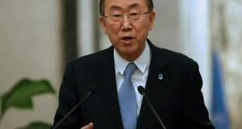 Решить конфликт в Украине военными средствами невозможно, — Пан Ги Мун