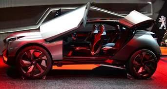 Компания Peugeot представила концептуальный спортивный кроссовер Quartz