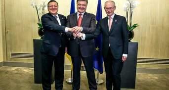 Порошенко зустрівся з ван Ромпеєм та Баррозу