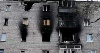 Місто Попасна майже зруйноване від обстрілів бойовиків