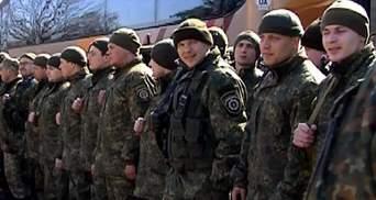 В Виннице встретили милиционеров, что  вернулись с АТО