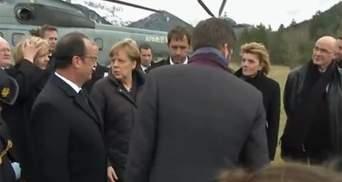 Олланд і Меркель прибули на місце аварії літака, Рахой прибуде пізніше