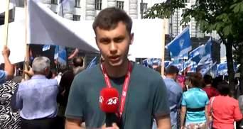 Профспілки протестують під Кабміном