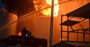 Пожежа на нафтосховищі: Одна людина загинула