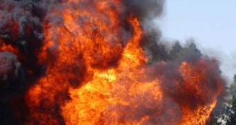 Пожежа під Києвом: стався великий вибух