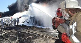 На нафтобазі поблизу Києва продовжують охолоджувати резервуари