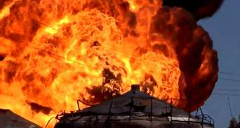 З'явилось відео страшної пожежі під Києвом