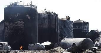 На нафтобазі під Києвом досі горить бензин