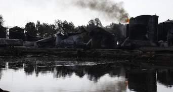 Нацгвардія охоронятиме територію нафтобази, яка згоріла під Києвом, — ДСНС