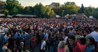 У Єревані на площі Свободи продовжуються протести (Онлайн)