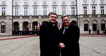 Порошенко и Коморовский встретятся во Львове