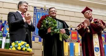 Польський президент став почесним доктором Львівського університету