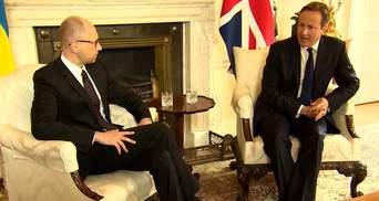 Яценюк з Великобританією домовився про реформи в Україні