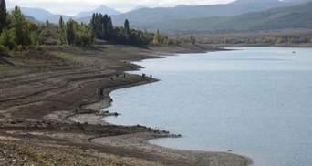 Одно из крупнейших водохранилищ в Крыму рекордно обмелело