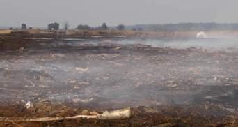 Пожежі на торфовищах не вщухають у п'яти областях
