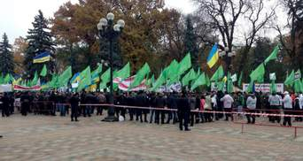 Під стінами Ради зібралось близько тисячі активістів