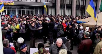 В Кривом Роге снова вече — люди собираются на Киев