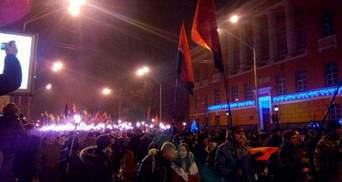 Кияни вийшли на вулиці, аби відзначити день народження Бандери