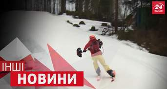 ДРУГИЕ новости. Как слон крутил на хоботе мотороллер, уникальный руль для лыж