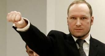 """Брейвик пожаловался на """"нечеловеческие условия"""" в тюрьме"""
