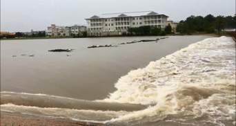 Американский штат Техас ушел под воду: впечатляющие кадры стихии