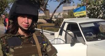 Фотофакт: Тетяна Чорновол взялась за зброю у зоні АТО