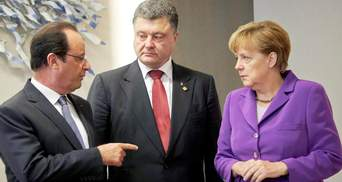 Про що Порошенко говорив з Меркель та Олландом
